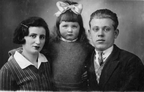 Фрума, Яков Белые и их дочь Елизавета.