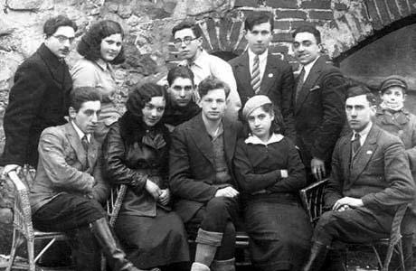 Сустрэча членаў Браслаўскай арганізацыі «Гехалуц Хацаір». 1938 г.