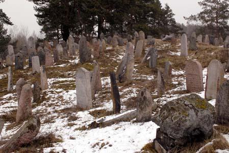 Старые камни еврейского кладбища.