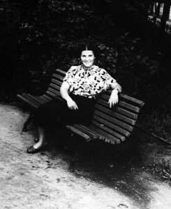Ida Dobromyslova. Photo taken in the middle of the 1950s.