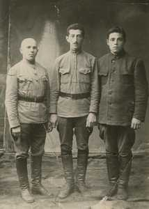 Ефим Шухман с друзьями.