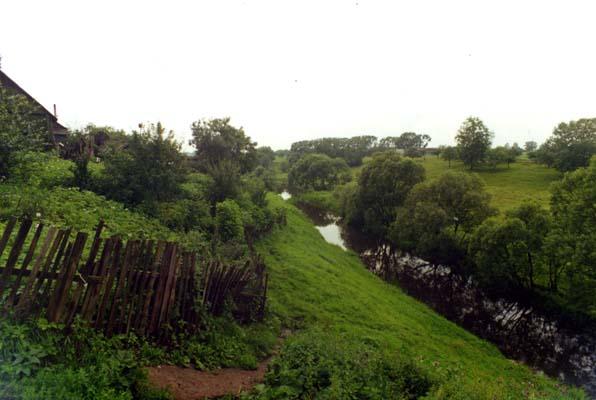 Liozno. The River Moshna.