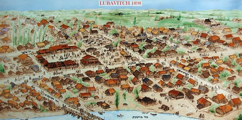 Карта Любавичей.