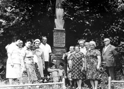 Открытие памятника в Лукомле. 1954г.