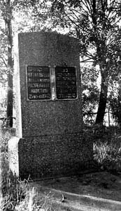 Memorial to Jews, executed in Miory