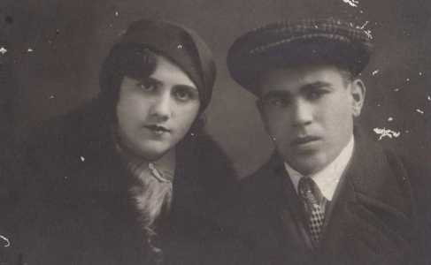 Дора с мужем Семеном Меершинским.