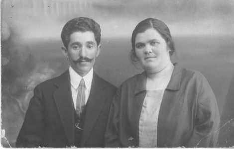 Лев Самуилович Фарбман с женой.