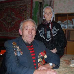 Михаил ИосифовичЭпельман с женой Глафирой Ивановной.
