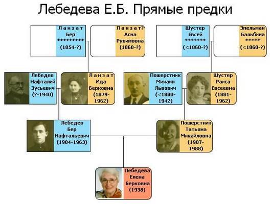 Генеалогичекое дерево Лебедевых.