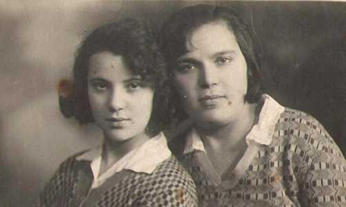 Лиза Хейфец и  Поля Китайгородская.