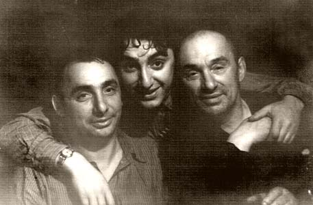 Israel Staroselsky with sons Semion and Yakov. Shumilino, 1950s.