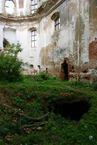 Ruins of the old Catholic church.