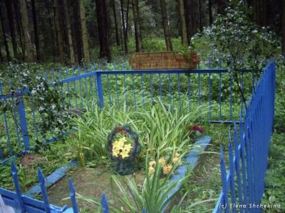 Братская могила на месте расстрела.