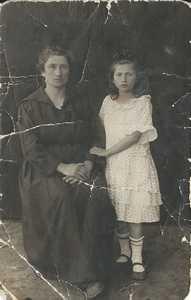 Эта Давыдовна Бейлина с дочерью Геней