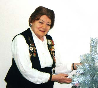 Yevgeniya on the New Year's Eve in 2005