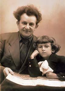 Григорий Авербах с сыном Эдуардом.