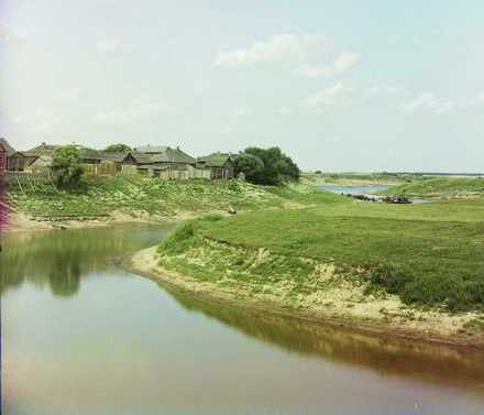 The Drissa flowing into the Western Dvina. S. Prokudin-Gorsky's photo, beginning of 20<sup>th</sup> century.