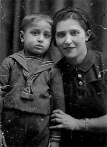 My brother Valik (Valerian) with mother before the war. This photograph was sent to father, when he was in training at the school of Red Commanders.