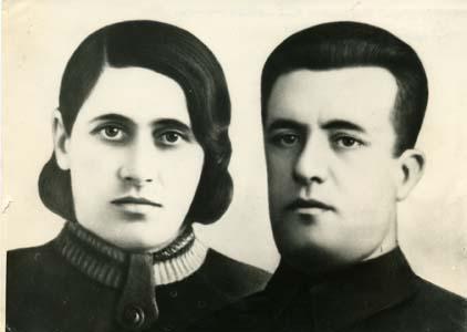 Рахмиэль Хаимович Козлянский с женой.