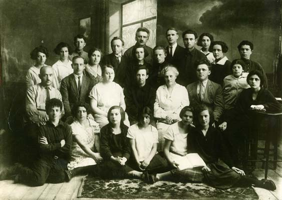 Senior grade of the first experimental school of the Jewish pedagogical college.