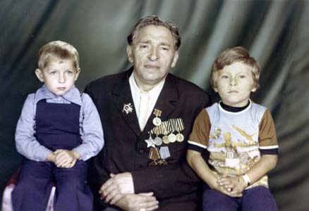 Alexander Khazan with grandchildren.