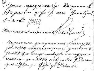 Предписание и расписка Шевелевой.