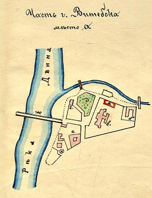 План местности с обозначением здания талмуд-торы.