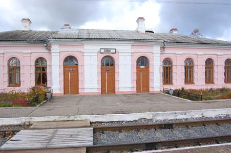 Ziabky. The station. Photo taken in 2009.