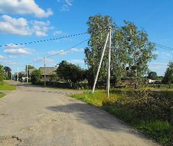 Вид на квартал в деревне Ленин