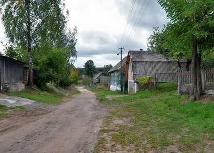 Старые еврейские дома в деревне Бобр.