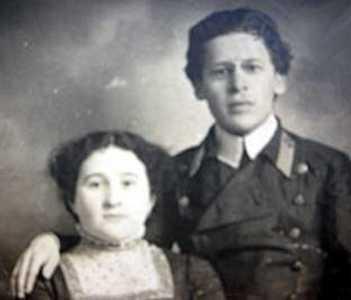 Янкель Сегал с женой.