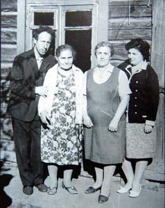 Лазарь Марголин и семья тети.