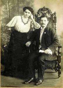 Свадебное фото Эммы Гинзбург и Абрама Нельсона.
