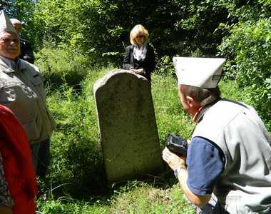 Городок. На еврейском кладбище.