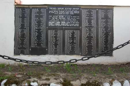 Фамилии погибших евреев Куренца.