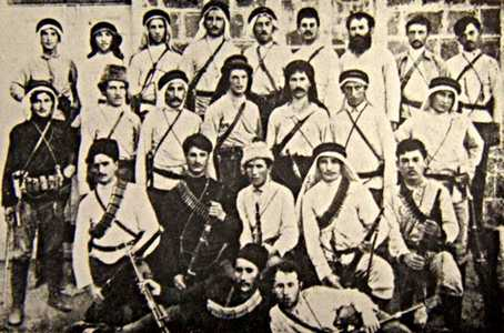 Бойцы одного из первых отрядов самообороны Ха-Шомер.