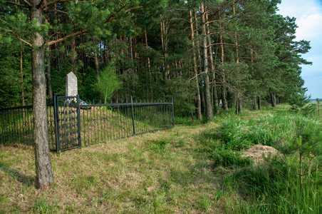 Место расстрела евреев местечка Шацк.
