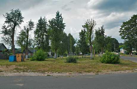 Площадь в центре Шацка, где собирали евреев перед уничтожением.