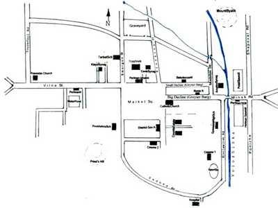 Карта – схема города Воложина 1930-х гг.