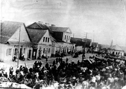 Двухэтажный каменный дом на Торговой площади Воложина принадлежал Хаиму Воложинеру.