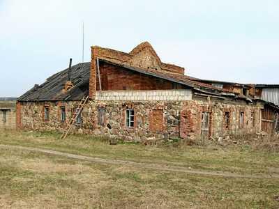 Зембин. Остатки здания миквы.