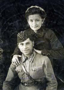 Aron Samuilovich Bukengolz and Sofia Mikhailovna Moreva.