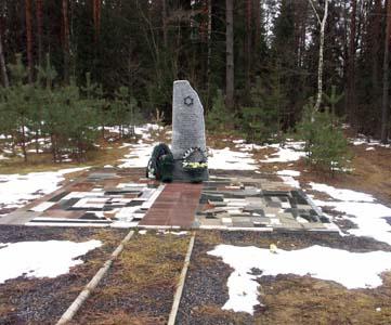 Памятник на месте расстрела у вьезда в Быхов.