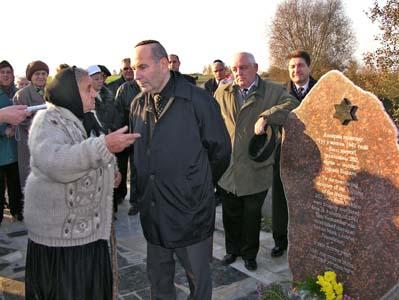 Открытие памятника возле Гонькова рва.