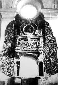 Фрагменты декора быховской синагоги.
