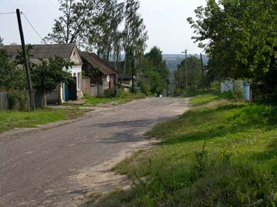 Old Jewish houses in Kozinka.