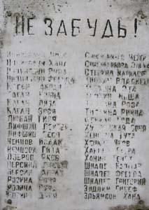 Списки расстреляных.