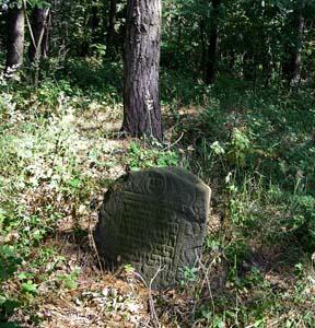 На еврейском кладбище.