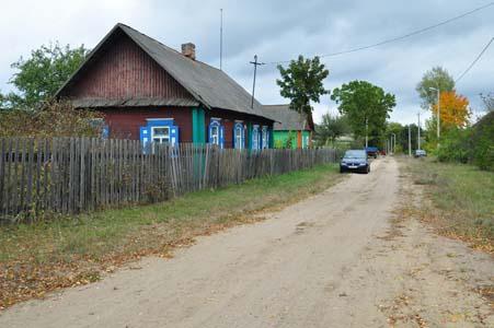 Улица Песочная, где располагалось гетто в Дараганово.