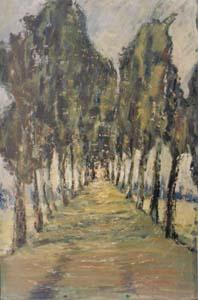 Yakov Simkin. Alley.